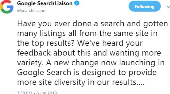 google on twitter