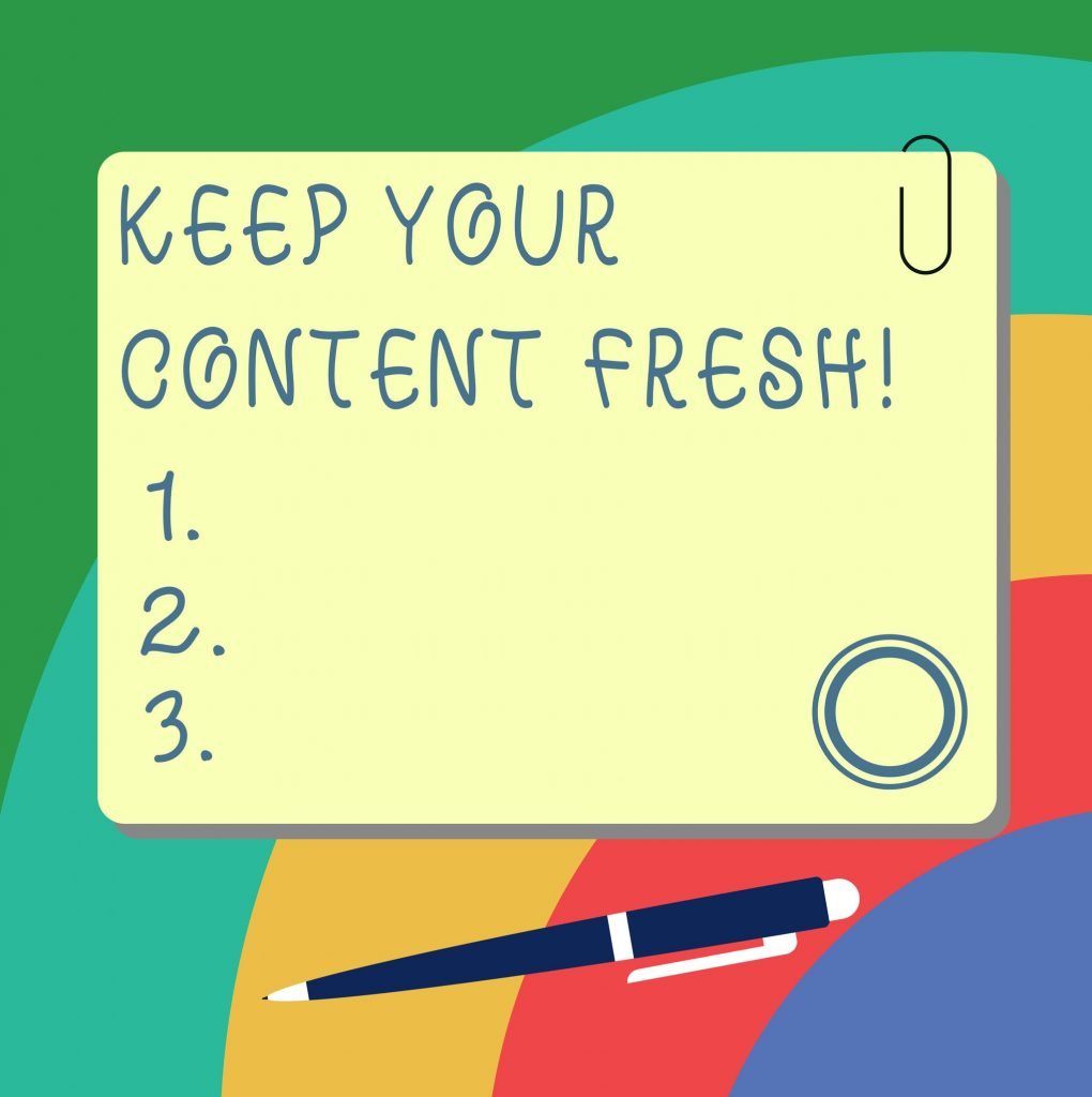 keep content fresh concept