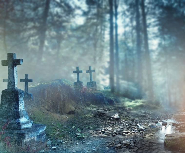 graveyard halloween concept
