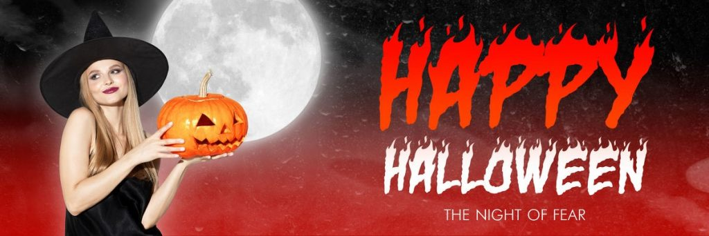 happy halloween greeting concept