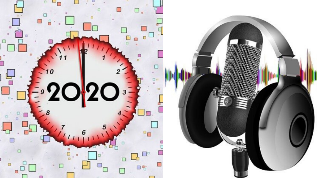 2020 podcasting - concept