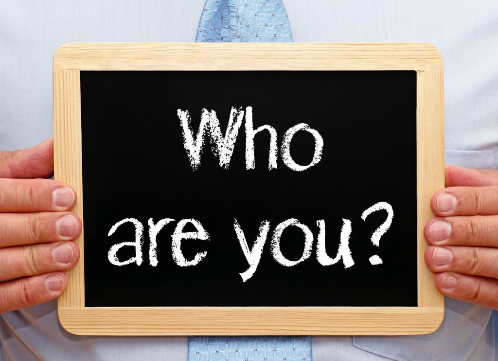 Who are you - brand awareness concept