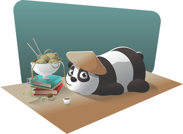 panda eating good food - update algorithm concept